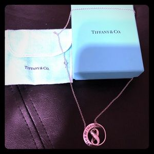 AUTHENTIC TIFFANY REMIX! INFINITY x2 NECKLACE 18""